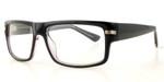 Calabria Soho 109 Black Crystal Designer Eyeglasses :: Custom Left & Right Lens