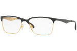 Ray Ban Prescription Eyeglasses RX6344-2890-53 Gold/Shiny Black 56mm Progressive Lens