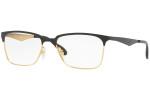 Ray Ban Designer  Reading Eye Glasses RX6344-2890-53 Gold/Shiny Black 56mm
