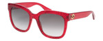 Gucci Sunglasses Red Crystal Glitter/Non-Polarized Grey Gradient Lens GG0034S