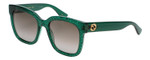 Gucci Sunglasses Green Crystal/Non-Polarized Brown Gradient Lens GG0034S-007