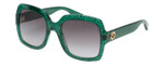 Gucci Sunglasses Green Crystal/Non-Polarized Grey Gradient Lens GG0036S-006