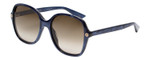 Gucci Sunglasses Blue Crystal/Non-Polarized Brown Gradient Lens GG0092S-005