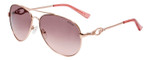 Guess Designer Sunglasses GF6064-28T in Gold with Rose Gradient Lens