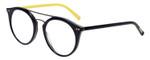 EyeBobs Putter Designer Reading Eye Glasses in Glossy Navy/Yellow 153-84 48mm