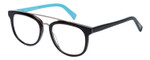 EyeBobs Wedge Designer Reading Eye Glasses in Glossy Black/Baby Blue 160-00 52mm