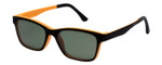 EyeBobs Sticky Business Reading Eye Glasses 930-05 in Matte Black/Orange Polarized Grey Clip-On