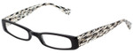 EyeBobs Think Eye Designer Reading Eye Glasses in Black/White/Clear 50mm