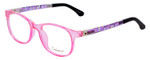 NY Eye Enhance Kids Prescription Glasses EN4132 46mm Crystal Pink/Matte Black Rx