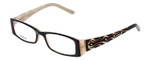 Calabria Designer Reading Glasses 815 Ebony with Blue Light Filter + A/R Lenses