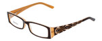 Calabria Designer Reading Glasses 815 Brown with Blue Light Filter + A/R Lenses