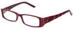 Calabria Designer Reading Glasses 815 Cabernet with Blue Light Filter + A/R Lenses