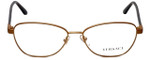 Versace Designer Eyeglasses 1221-1329 in Matte Brown 54mm :: Progressive