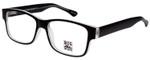 Big and Wide Designer Reading Glasses BW1 Matte Black Crystal 60mm :: Rx Bi-Focal