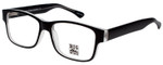 Big and Wide Designer Reading Glasses BW1 Matte Black Crystal 60mm :: Progressive