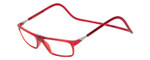 Clic Designer Eyeglasses Executive Style in Red :: Custom Left & Right Lens