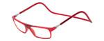 Clic Designer Eyeglasses Executive Style in Red :: Custom Left & Right Lens