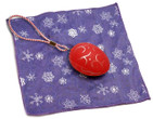 Holiday Christmas Theme Cleaning Cloth Happy Holiday Purple Snowflake