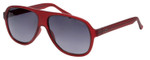 Guess Designer Sunglasses Matte Burgundy Red/Grey Gradient Lens GF5042-70B 57mm