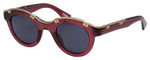 Lanvin Designer Sunglasses Crystal Purple/Gold/non-polarized Grey SLN692-0D66-45