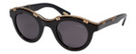 Lanvin Designer Sunglasses Black & Gold non-polarized Grey Lens SLN692-700Y-45mm