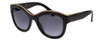 Lanvin Designer Sunglasses Black/Gold/non-polarized Grey Gradient SLN693-0700-52