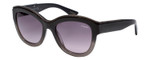 Lanvin Designer Sunglasses Black Crystal Smoke Fade Grey Gradient SLN693-0AH8-52
