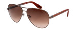 Lanvin Designer Sunglass Copper Bronze Snake Skin Brown Gradient SLN037V-448X-59
