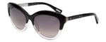 Lanvin Designer Sunglass Black Crystal Fade/Silver Grey Gradient SLN672V-0W40-54