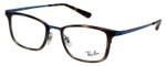 Ray Ban EyeGlasses Glossy Havana Tortoise/Shiny Cobalt Blue RB6373M-2924-52 mm