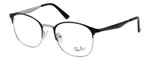 Ray Ban Designer Reading Eye Glasses Shiny Glossy Silver/Black RB6422-2997-49 mm