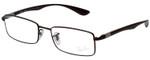 Ray Ban Designer Reading Glasses Matte Brown Copper/Shiny Silver RB6286-2758-52