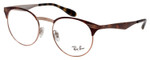 Ray Ban Designer Glasses Shiny Copper Bronze/Havana Tortoise RB6406-2971-49 mm