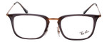 Ray Ban Designer Glasses Glossy Smoke Crystal Copper Bronze RB7141-5755-50 mm