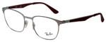 Ray Ban Prescription Eyeglasses RB6356-2880-50mm Shiny Silver/Matte Burgundy Red