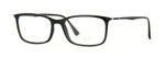 Ray Ban Prescription Eyeglasses RB7031-2000-55 mm Shiny Glossy Black Custom Lens