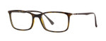 Ray Ban Prescription Eyeglasses RB7031-2301-53 mm Havana Tortoise/Dark Brown Rx