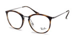 Ray Ban Prescription Eyeglasses RB7140-2012-51 mm Dark Havana Tortoise/Silver Rx