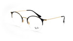 Ray Ban Prescription Eyeglasses RB3578V-2890-50 mm Glossy in Black/Shiny Gold Rx
