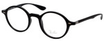 Ray Ban Prescription Eyeglasses RB7069-5204-46 mm in Matte Black/Shiny Silver Rx