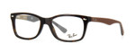 Ray Ban Rx Eyeglass w/Progressive Lens RB5228-5545-50 Dark Havana Tortoise/Brown