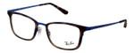 Ray Ban Rx Eyeglasses& Progressive Lens RB6373M-2955-52 Matte Dark Tortoise/Blue