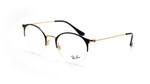Ray Ban Designer Reading Eye Glasses Glossy Black/Shiny Gold RB3578V-2890-50 mm