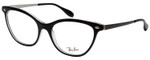 Ray Ban Designer Reading Eye Glasses Glossy Black/Shiny Silver RB5360-2034-54 mm