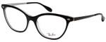 Ray Ban Designer Reading Eye Glasses Glossy Black/Shiny Silver RB5360-2034-54 mm