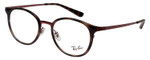Ray Ban Designer Glasses Glossy Havana Tortoise/Burgundy Red RB6372M-2922-50 mm