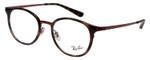 Ray Ban Designer Glasses Glossy Havana Tortoise/Burgundy Red RB6372M-2922-50 mm
