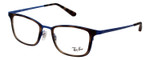 Ray Ban EyeGlasses Matte Dark Havana Tortoise/Gloss Ocean Blue RB6373M-2955-52mm