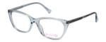 Vivid Designer Reading Eyeglasses 886 in Shiny Light Blue 53 mm Custom Lens