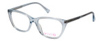 Vivid Designer Reading Eyeglasses 886 in Shiny Light Blue 53 mm Bi-Focal